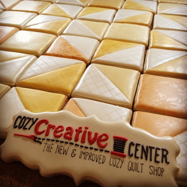 Instagram - Some quilt cookies to celebrate the reopening of a local quilt store