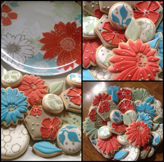 Floral themed cookie collection