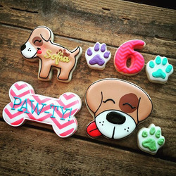 Are you guys ready for a paw-ty_ How cute are these_ They were inspired by the party invites, I love
