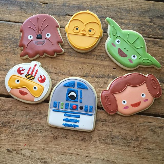 Star Wars cookie so cute I had to make an extra set just for myself (although my son has already cla