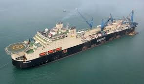 Ice-class Pipe Laying Vessel