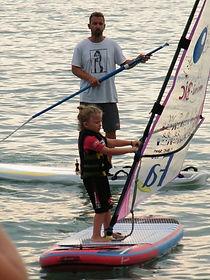 Lujza windszörf egyensúlyozó deszka