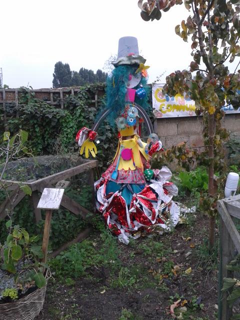 Blingalina Junk Scarecrow
