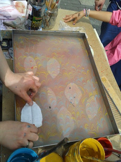 The Water Map, leaf printing