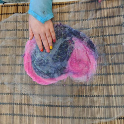 Felting session today at the Royal Marsd