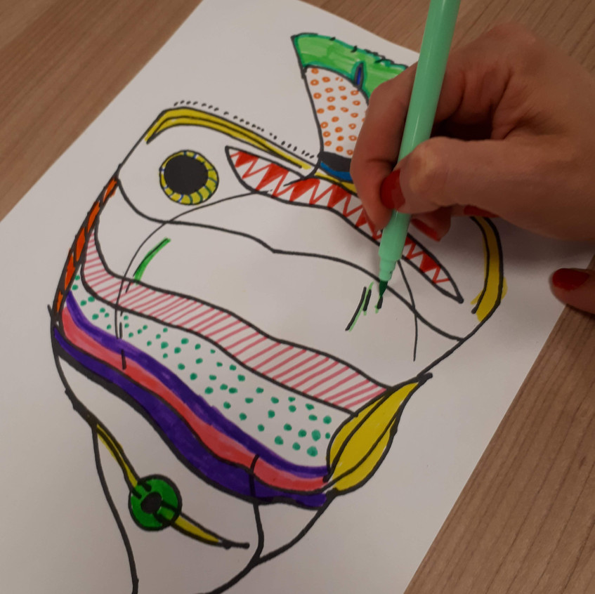 Colouring Our fishy designs