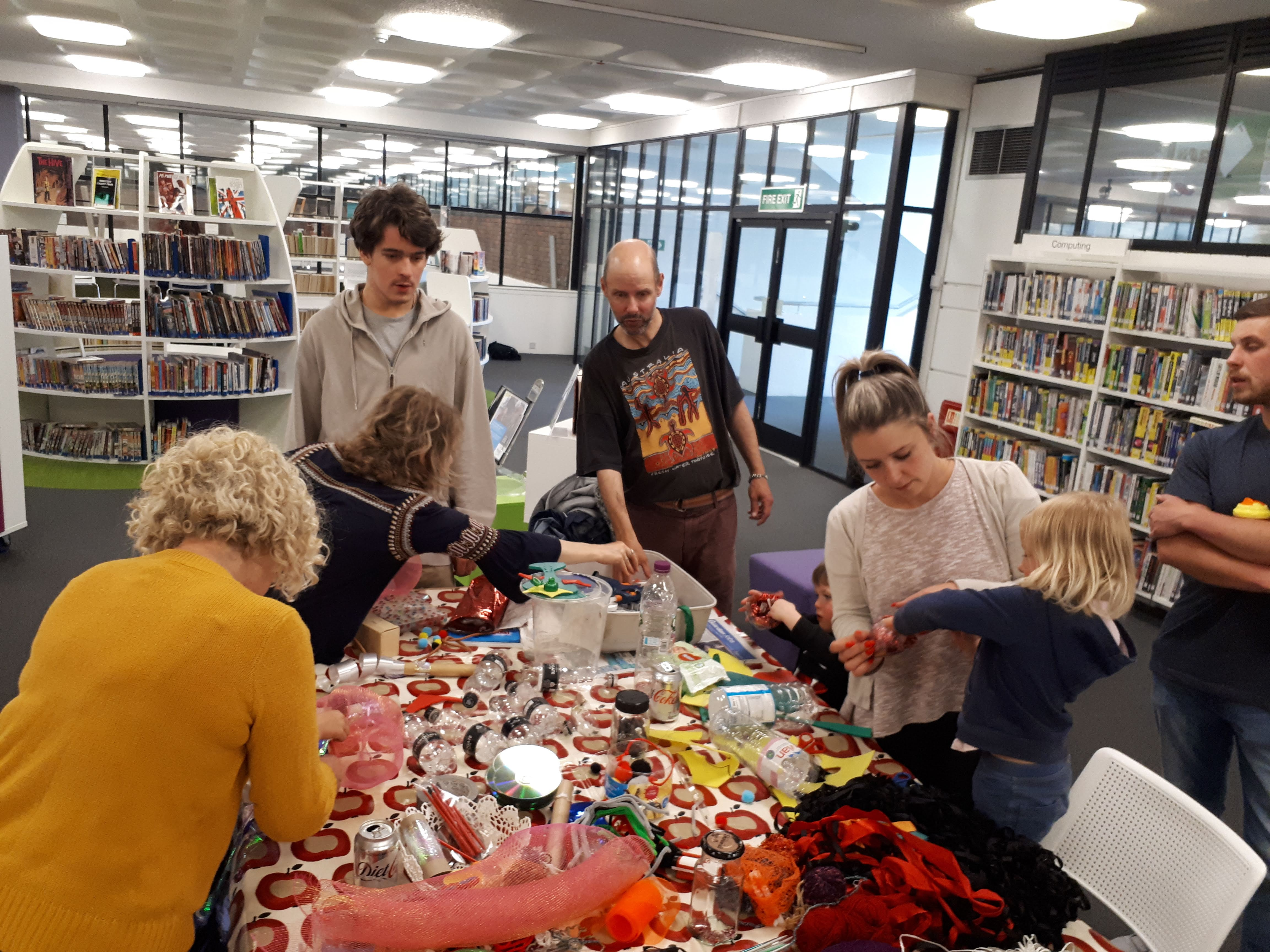 Making fish in Sutton Library