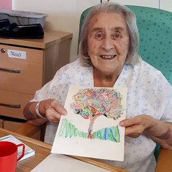 A happy young lady in the Stroke Unit