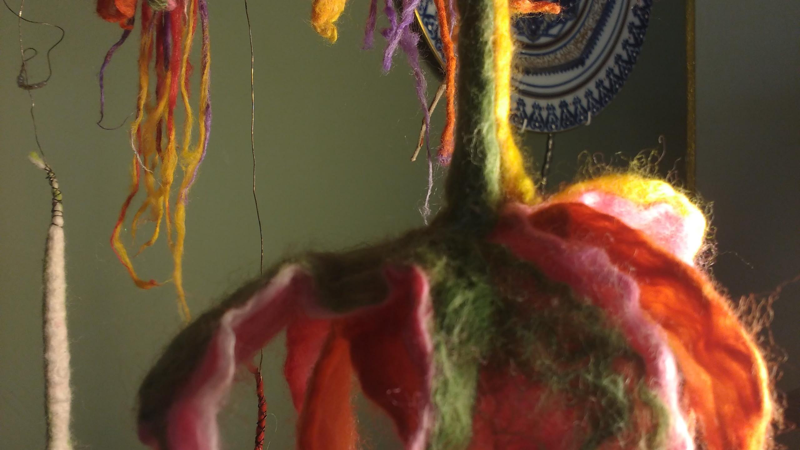 FUCHSIAS, merino and silk
