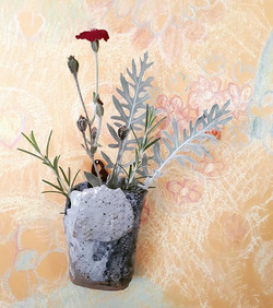 Experimental wall hanging vase using a l