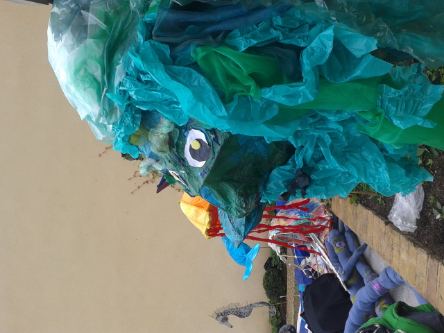Willow and tissue paper sculpture