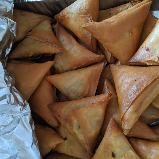 Samosas for our Cake Drop