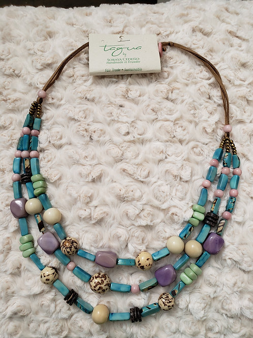 Multi Strand Boho Shore Inspired Necklace