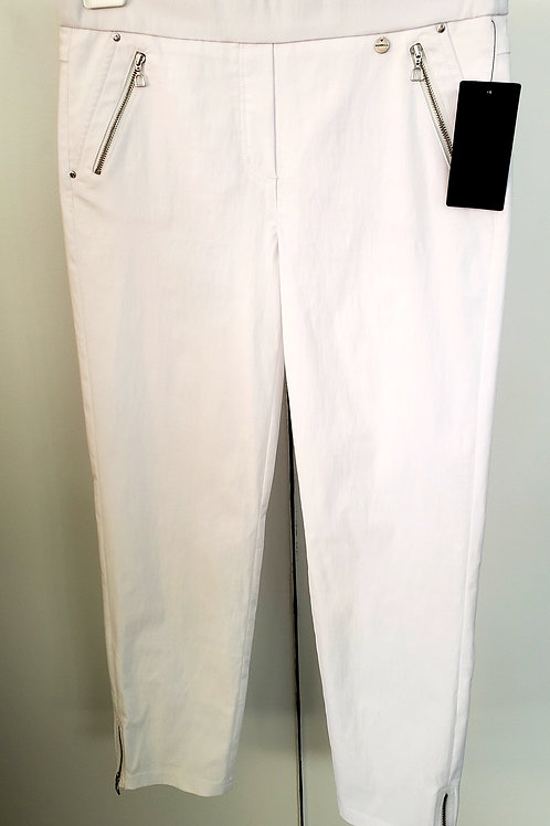 All Zipped Up White Jeans