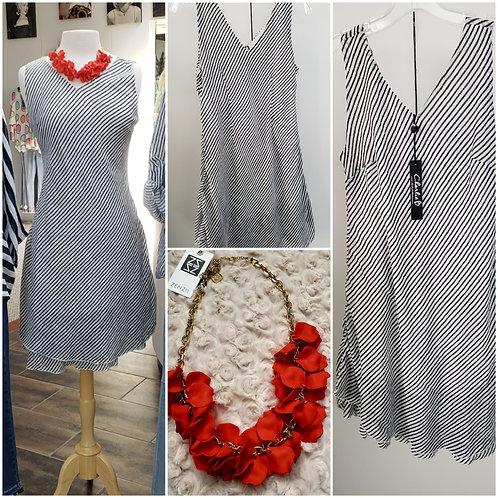 Striped Bias Cut Dress