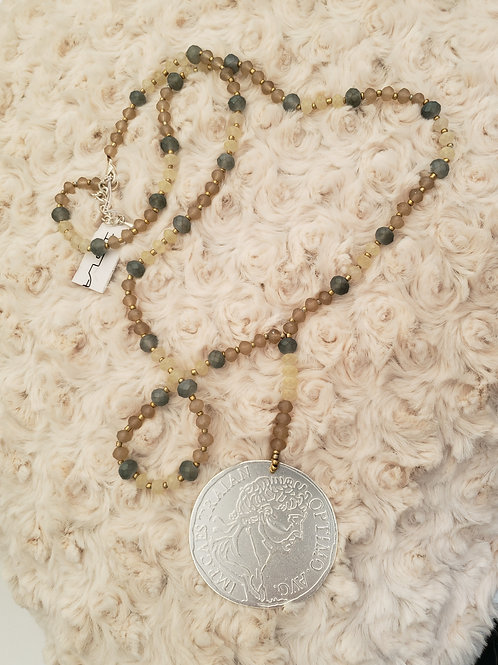 Silver Style Coin Necklace
