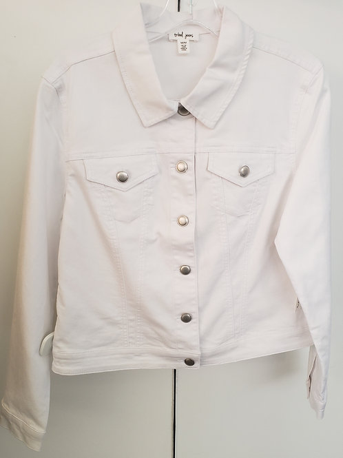 The Summer Classic - White Denim Jacket