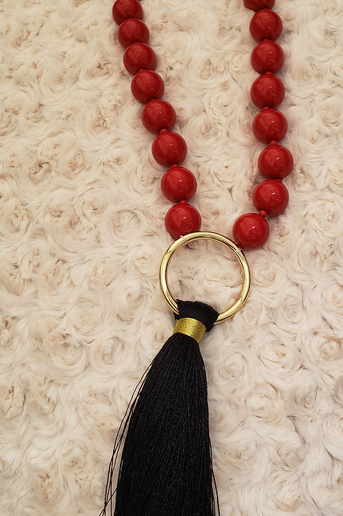 Red And Black Power Necklace