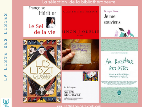 La sélection de la bibliothérapeute : La liste des listes