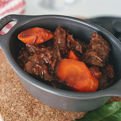 Beef Bourguignon for 2 people ($10.50/pers)