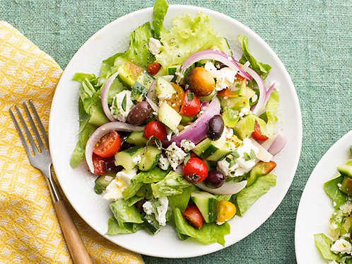 Greek salad for 2 people ($6/pers)
