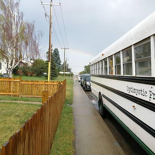 Rainbow on a fine parallel parking job _