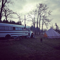Our fabulous new bell tent thanks to _so