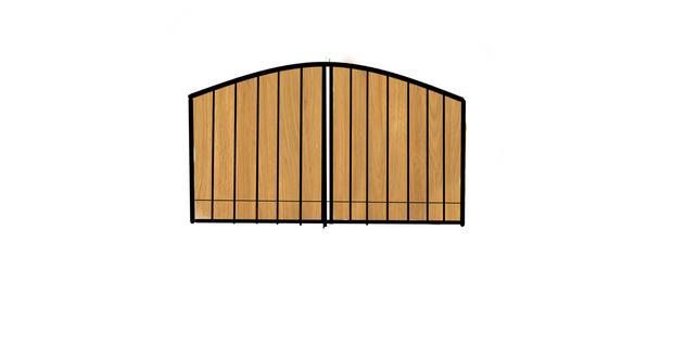 double opening basic cedar metal inlay.p