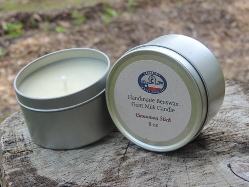 Natural Beeswax Candles 8oz Tins