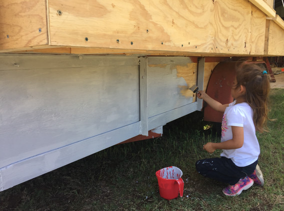 painting new mobile coop