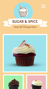 Food & Drinks website templates – Cupcake Shop