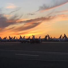 Sunset at the Airport - 2021 Moses Lake Airshow