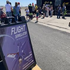 Dual M-4 Flight Simulator - 2021 Moses Lake Airshow