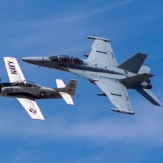 E/A 18 & T-28 Trojan - 2021 Moses Lake Airshow