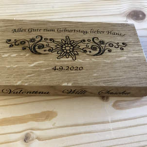 Lasern Geburtstagsgeschenk