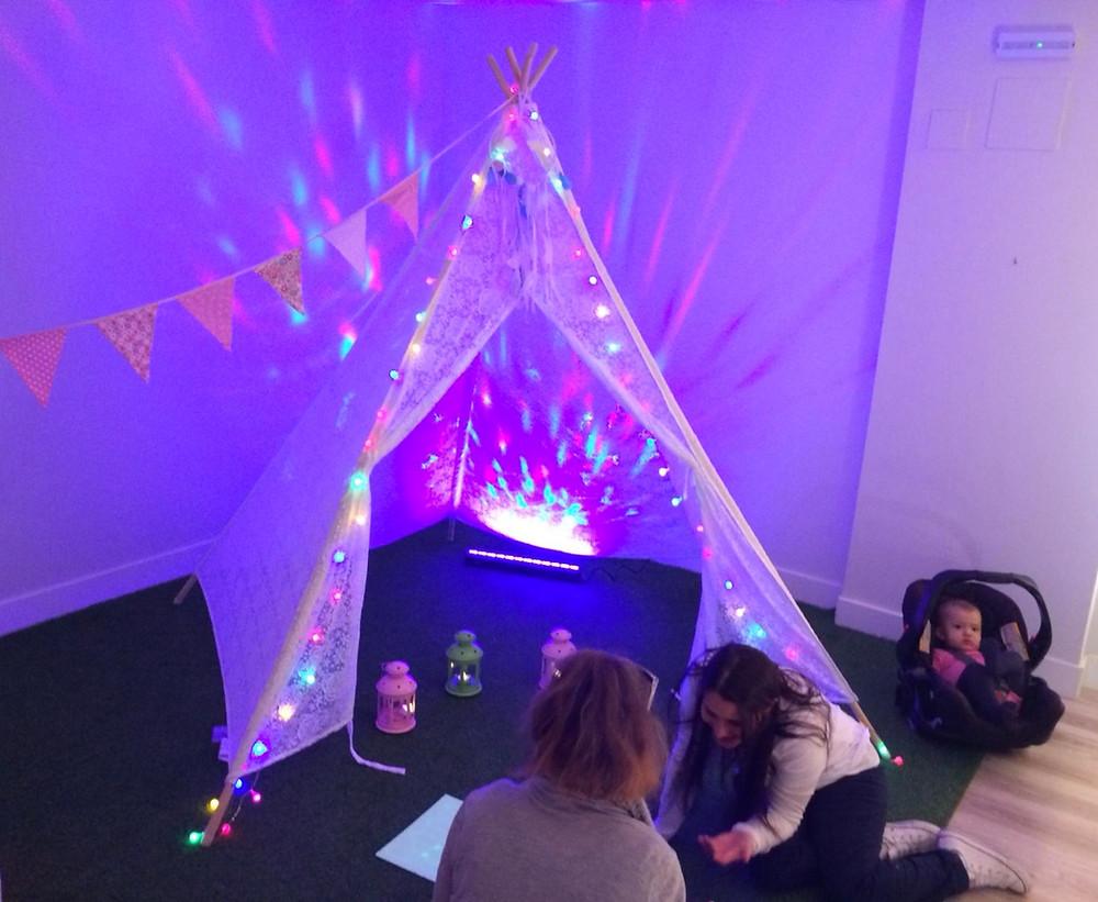 pedagogía de la luz, taller de luz, tipi, ponle un tipi
