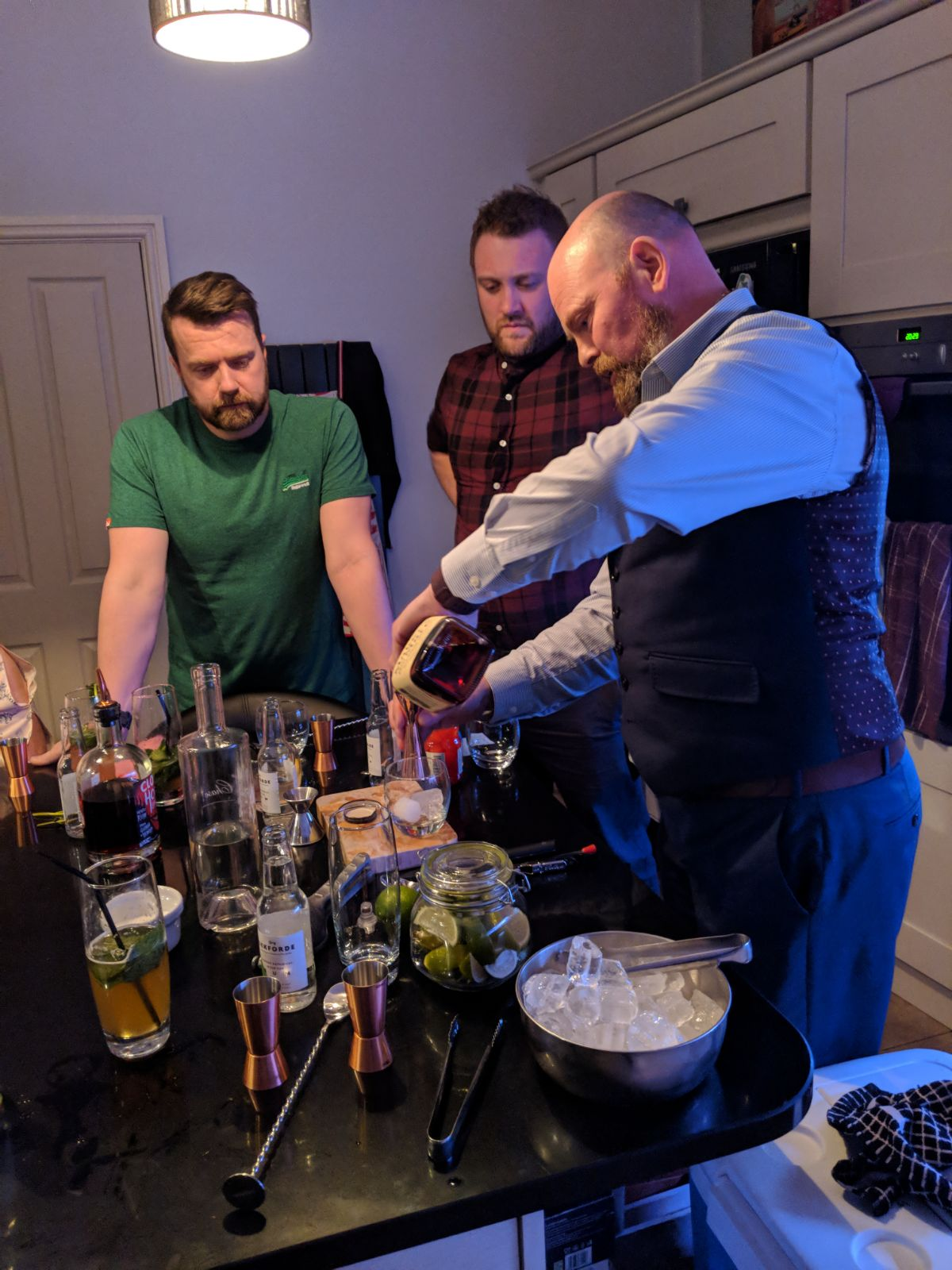 Cocktail Making at Home for a Birthday Party