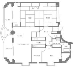 2階住居 間取り