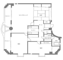 3階住居 間取り