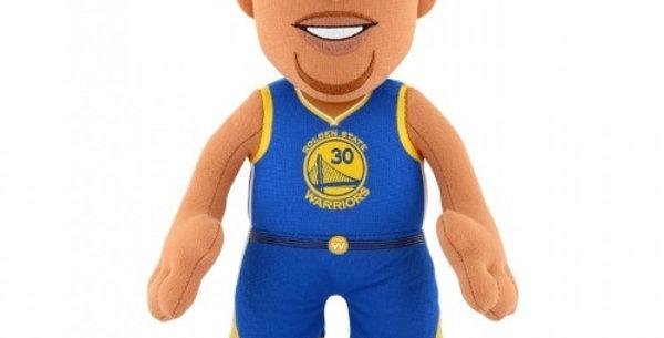 "NBA Steph Curry Blue Road Jersey 10"" Plush Figure"
