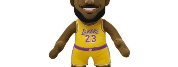 "NBA Lakers LeBron James Yellow Jersey 10"" Plush Figure"