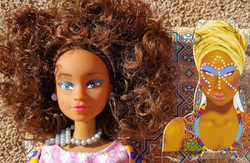 Queens of Africa Wuraola doll with mask