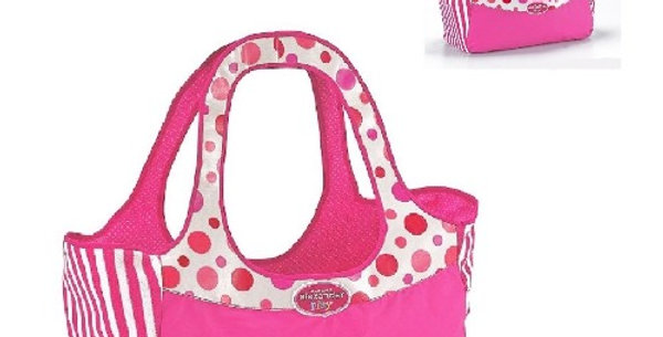 "Madame Alexander 70215 Baby's Carry Tote Doll Bag - fits two 18"" dolls"