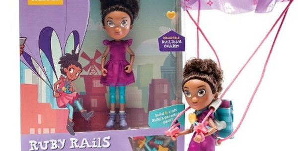 Goldie Blox™ Ruby Rails Skydive Action Figure with Parachute