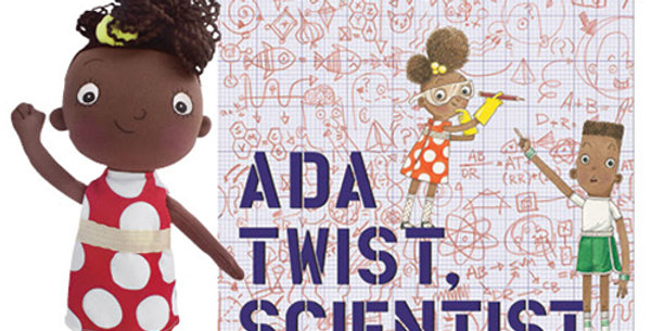Ada Twist, Scientist Doll and Book Set - STEM Toy for Black Girls
