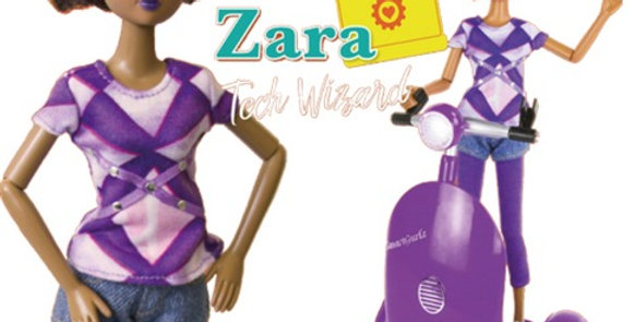 Zara Doll, Siggy Codable Robot & rechargeable battery - STEM Toy for Black girls