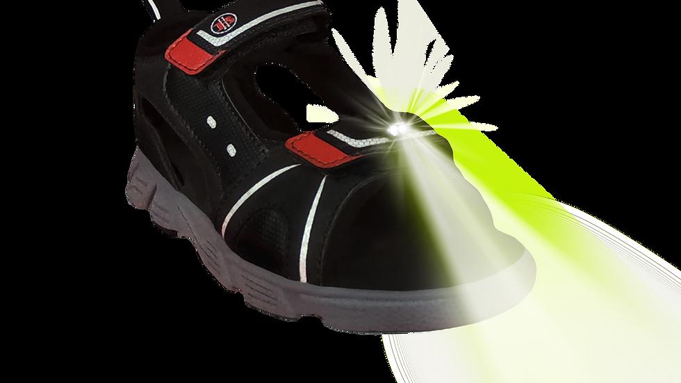 Discover Kid's LED Light Sandal (Black)