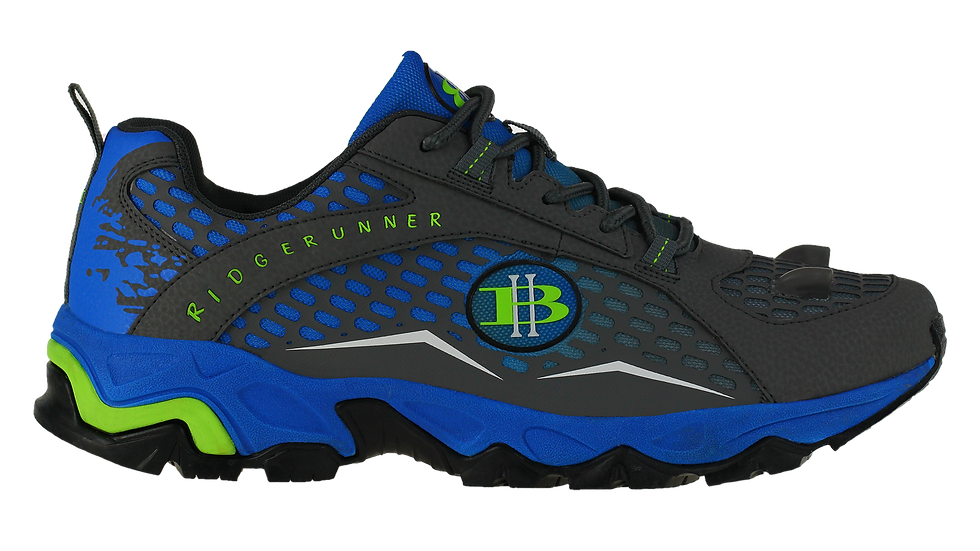 High-Beam-Women's- Blue-Light-Hiking-shoe-Ridge-Runner-Side 1