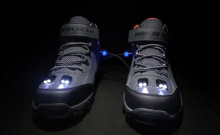 High Beam LED Hiking Boot-Grey-HB6000 Headlight View.jpg