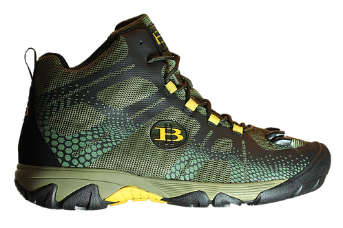 Full Ankle LED Light Hiking Boot.  Green Camouflage